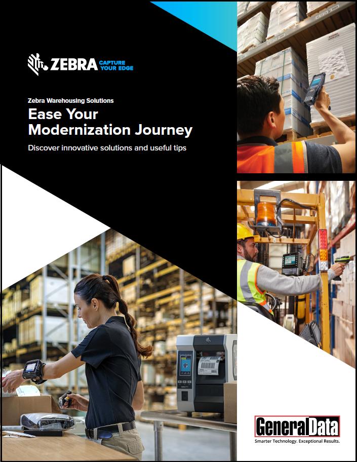 Zebra 5-Phase Warehouse Modernization Guide Brochure