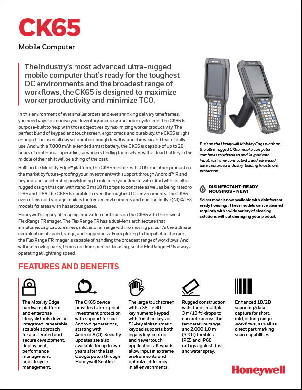 CK65 Mobile Computer Product Brochure