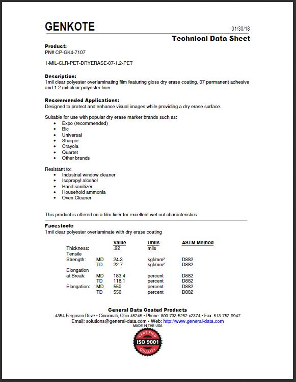 CP-GK3-7107 Technical Data Sheet