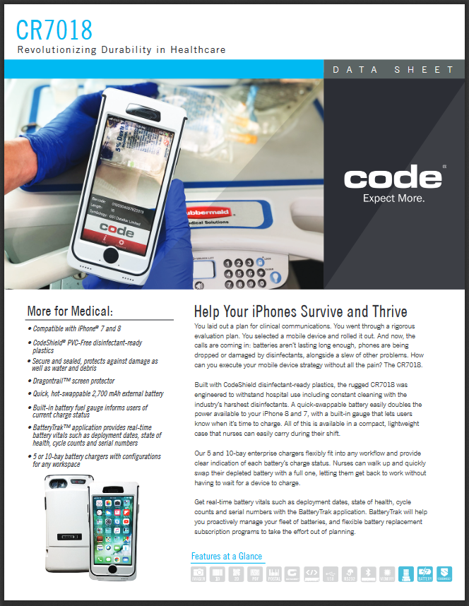 CR7018 Healthcare Mobile Device Product Brochure
