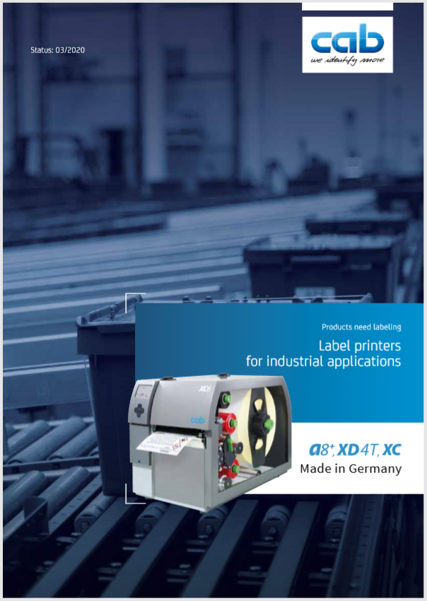 Cab XC6 Industrial Thermal Printer Product Brochure