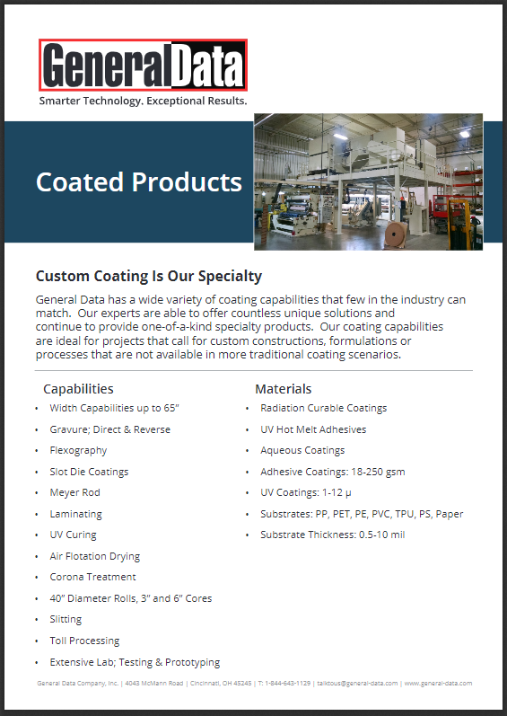 Coated Products Overview Brochure