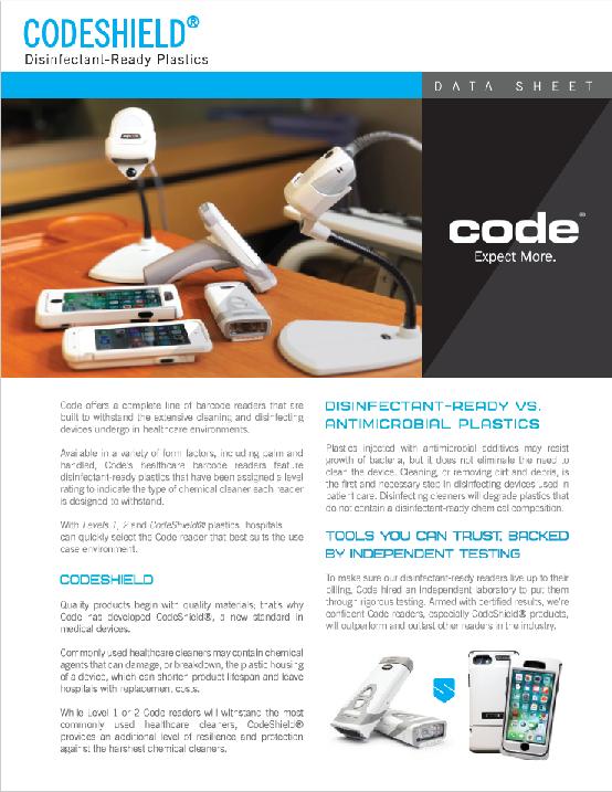 CodeShield Disinfectant-Ready Plastics Brochure