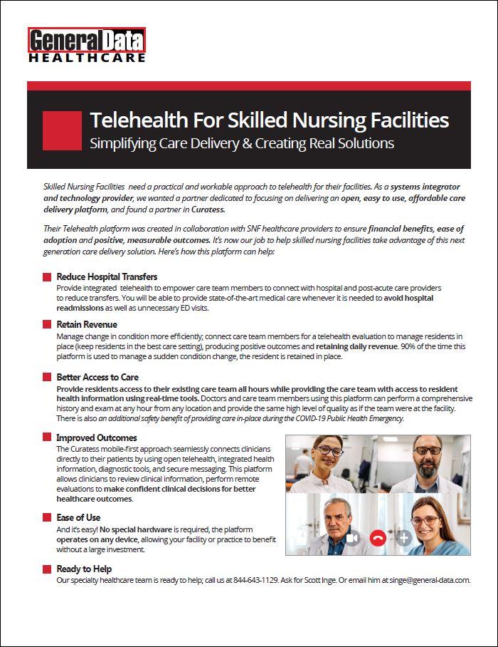 Telehealth For Skilled Nursing Facilities Product Brochure