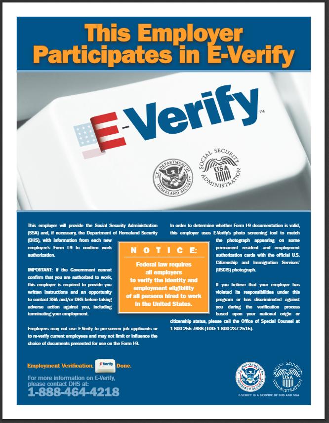Federal E-Verify