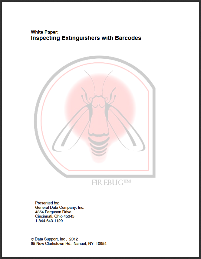 Firebug EXT - Inspecting Extinguishers with Barcodes White Paper