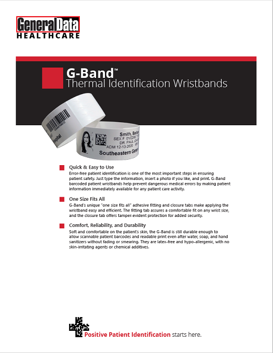 G-Band Wristbands Product Brochure