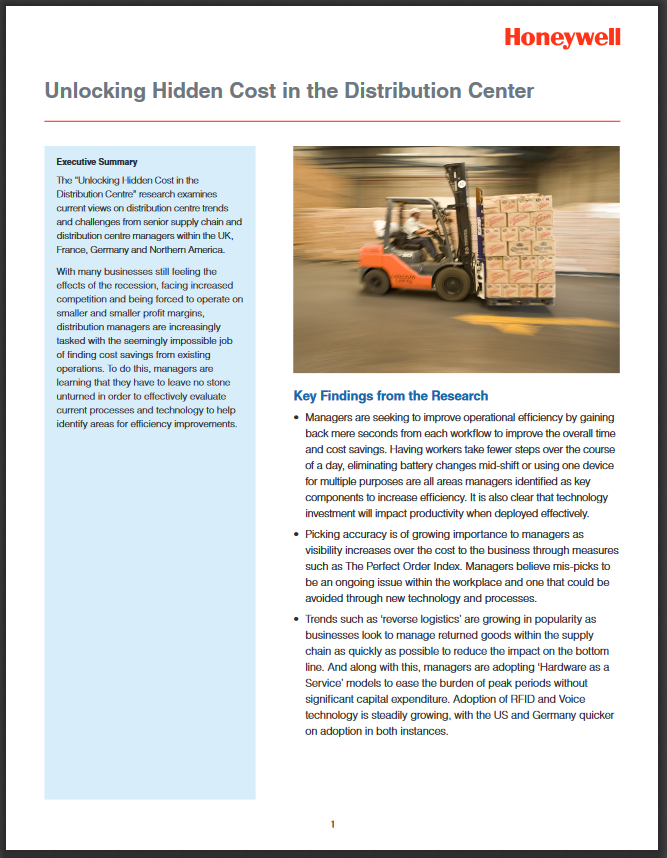 Unlocking Hidden Cost in the Distribution Center - White Paper