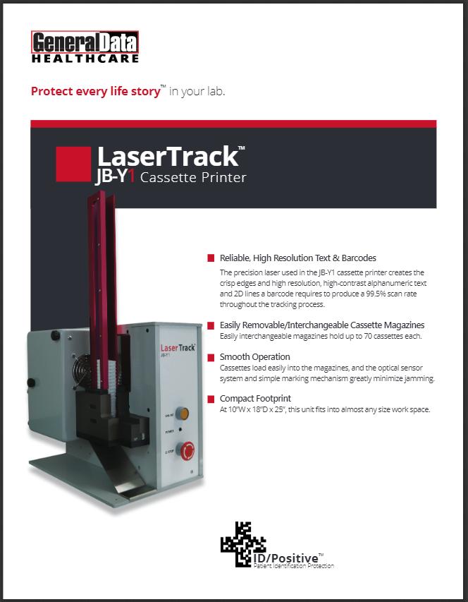 LaserTrack JB-Y1 Cassette Printer Product Brochure
