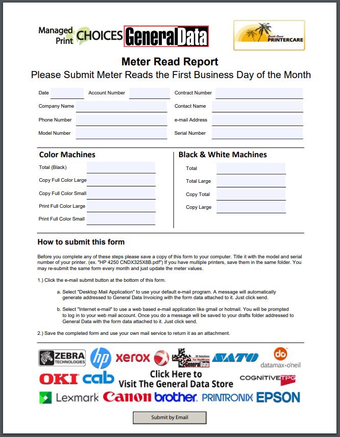 Meter Read Report