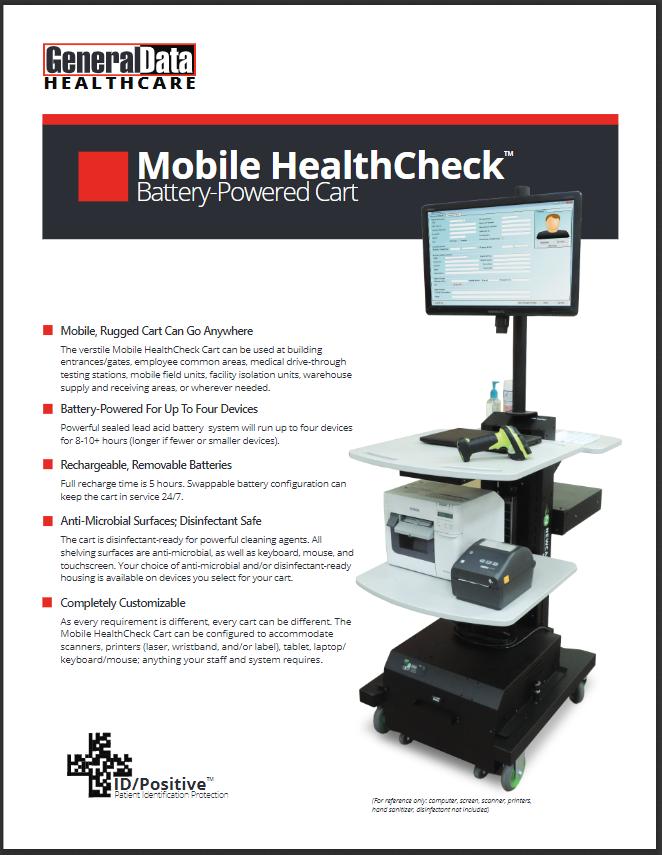 Mobile HealthCheck Battery-Powered Cart Brochure