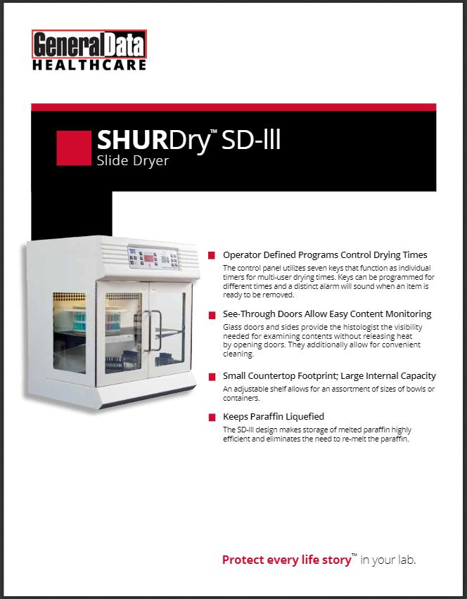 SHURDry Slide Dryer III Product Brochure