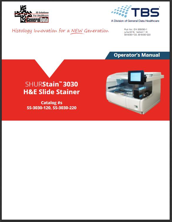 SHURStain H&E 3030 Slide Stainer Operator Manual