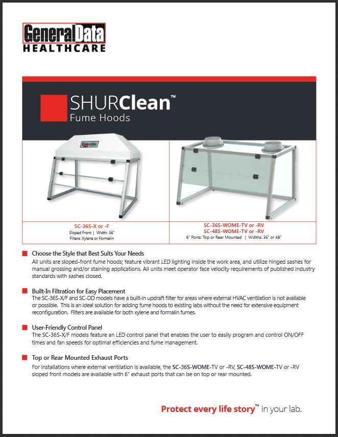 SHURClean Fume Hoods Product Brochure