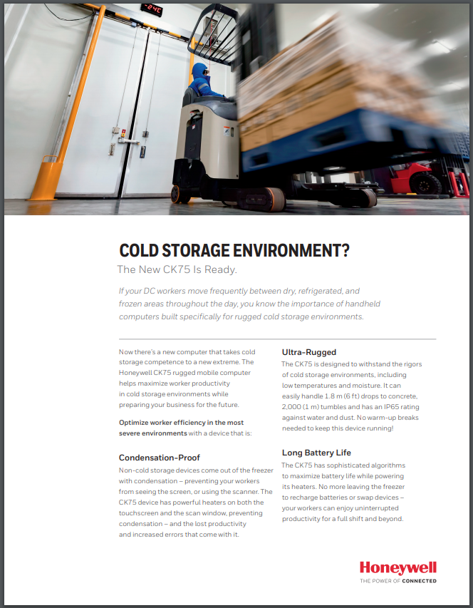 The New CK75 Is Cold Storage Ready Sale Brochure