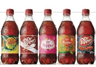 Dr. Pepper unique label designs