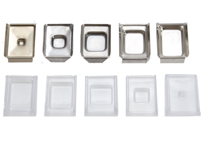 Base Molds - Stainless Steel and Plastic