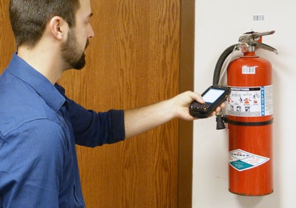 scanning fire extinguisher barcode
