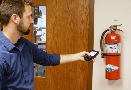 Record the Inspection of Fire Extinguishers With Firebug EXT