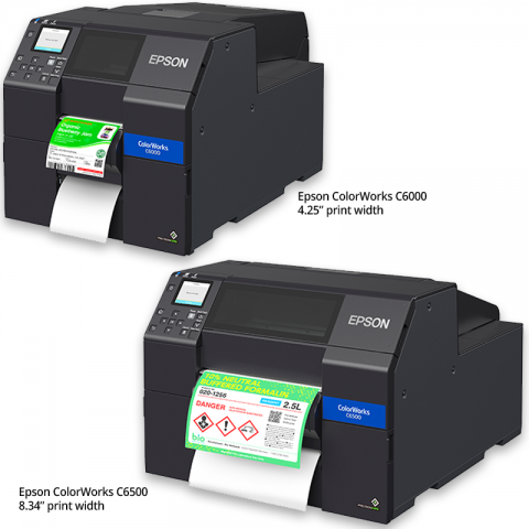 Epson ColorWorks C6000 C6500 Color Inkjet Label Printers