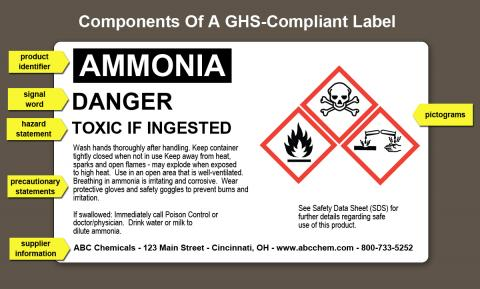 GHS label components